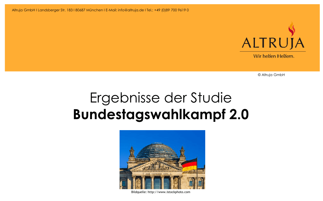 Altruja Studie Bundestagswahlkampf 2013