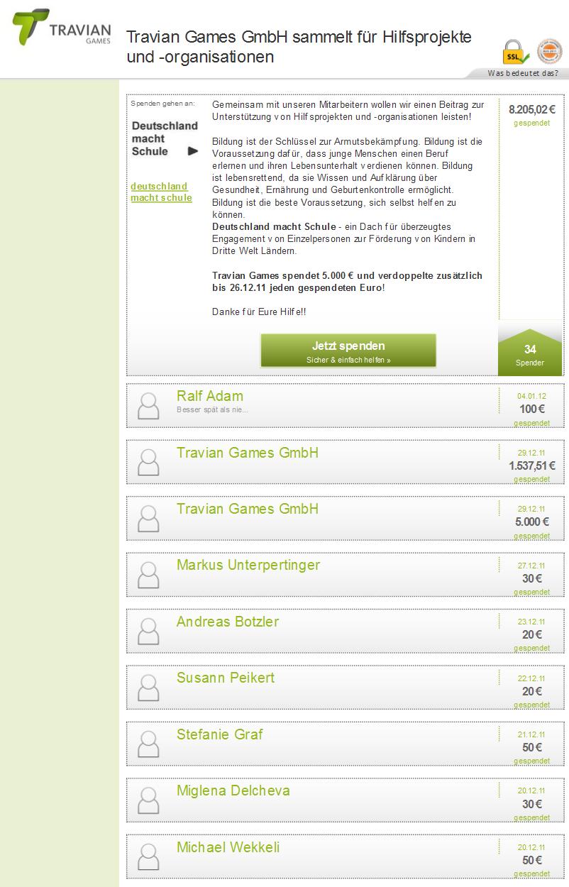 Firmenspenden generieren mit Altruja - Erstes Beispiel