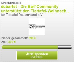 dubarfst - Die Barf Community unterstützt den Tiertafel-Weihnachtseuro