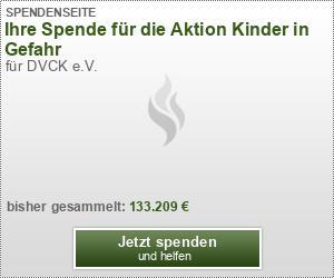 Ihre Spende für die Aktion Kinder in Gefahr