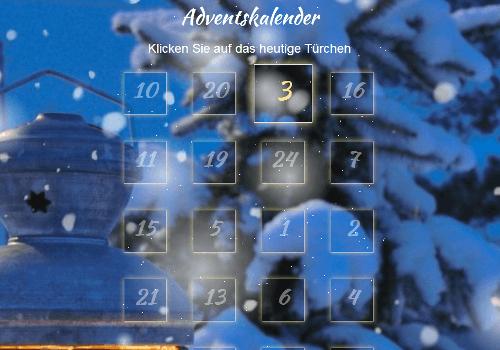 Demo-Seite zum Altruja Adventskalender