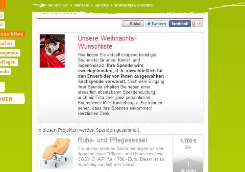 Demo-Seite zum Altruja Wunschzettel