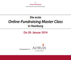 Fundraising Master Class