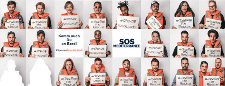 Spendenaktion des Monats SOS Mediterranee Facebook
