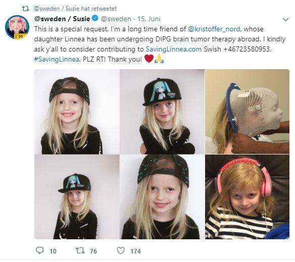 Susie @sweden Twitter brain tumor