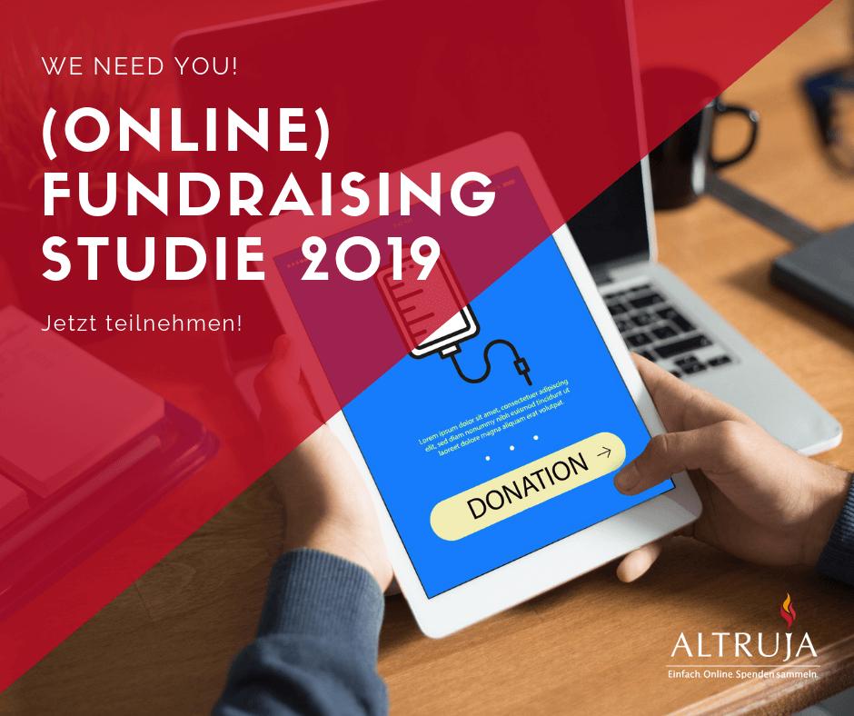 Die Fundraising Studie 2019 ist geöffnet und braucht Ihre Hilfe