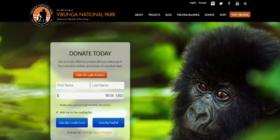 Virunga Nationalpark Landingpage