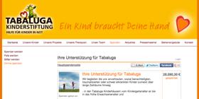 Anlassspenden Spendenaktion mit Altruja - Beispiel