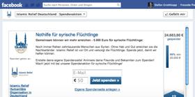 Facebook Spenden App von Altruja