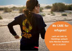 Spendenaktion des Monats August - CARE beim München Marathon mit Altruja