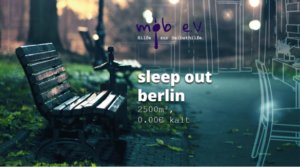 "Spendenaktion des Monats:  ""Sleep out"" Berlin 2017"