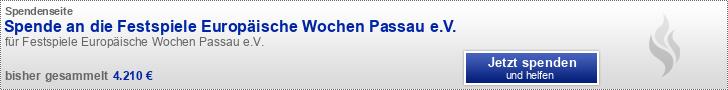 Spende an die Festspiele Europäische Wochen Passau e.V.