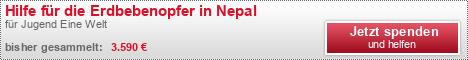 Hilfe für die Erdbebenopfer in Nepal