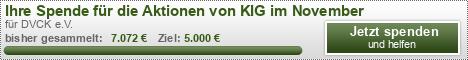 Ihre Spende für die Aktionen von KIG im November