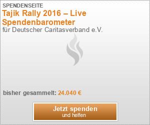 Tajik Rally 2016 – Live Spendenbarometer