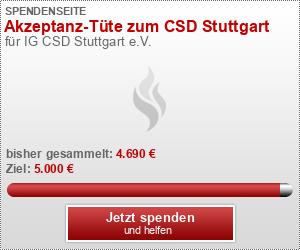 Akzeptanz-Tüte zum CSD Stuttgart