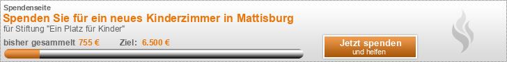 Spenden Sie für ein neues Kinderzimmer in Mattisburg