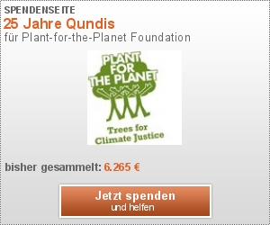 Baumspende an Plant-for-the-Planet - 25 Jahre QUNDIS
